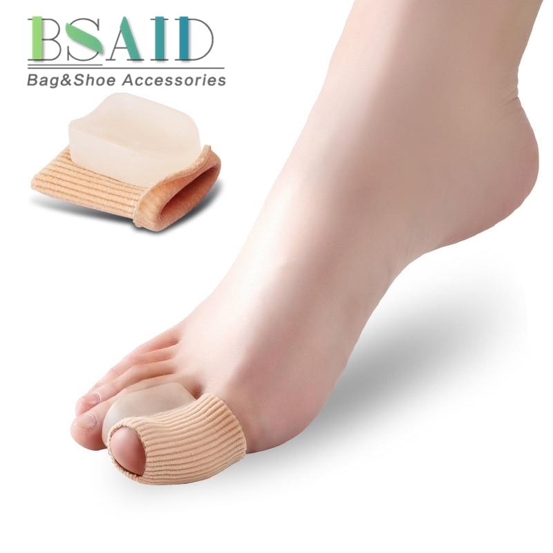 BSAID Silicone Foot Toe Pads Pedicure, Elastic Cuff Corrector Toe Separator, Orthopedics Stretchers Insert