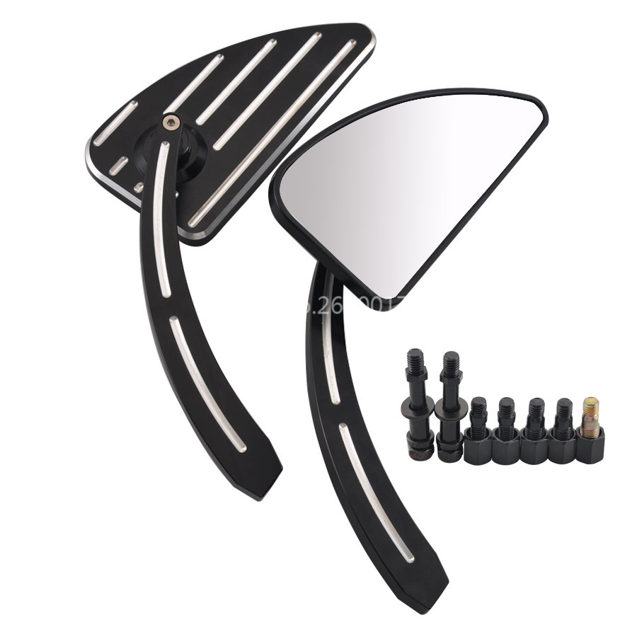 Motorcycle Aluminum Edge Cut Rear View Mirrors Fits For Harley Road Glide 1998 2018 Softail 1990