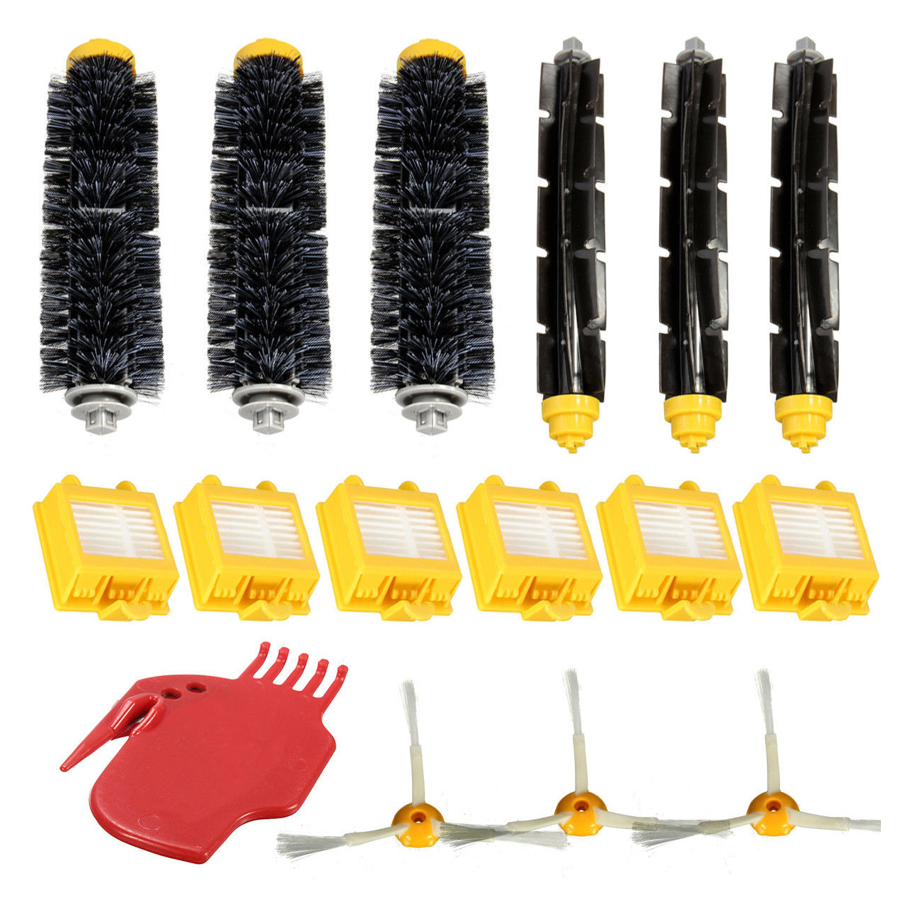 EAS-Filters Pack 3 Armed Side Brush Kit For iRobot Roomba Vacuum 700 760 770 780