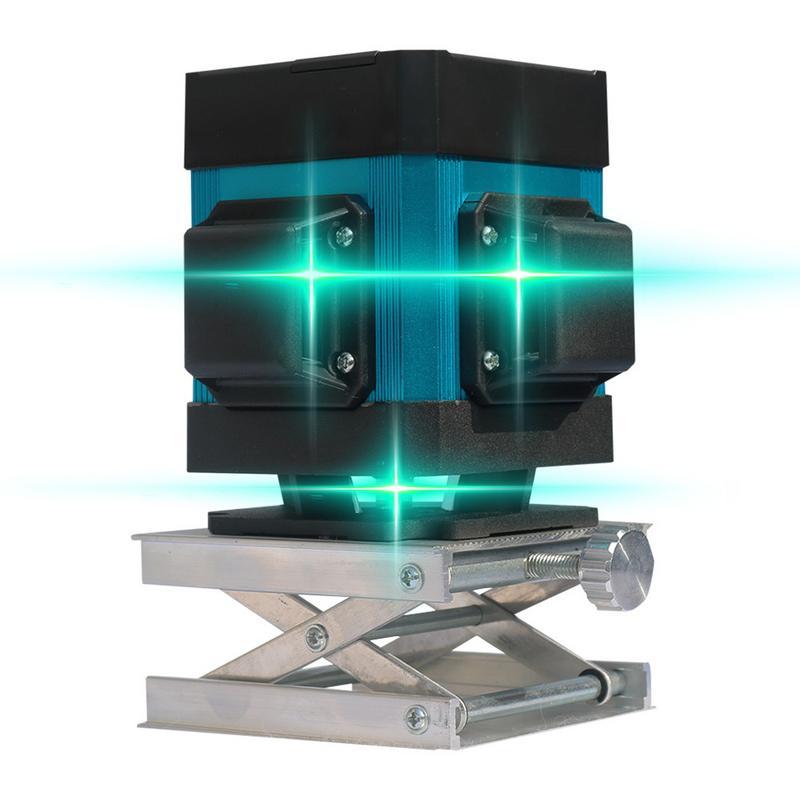 3D Новый 12 линии Зеленый уровень точности метр плоская вода сильный свет выравнивания инструмент пол инструмент наземной линии Instrum