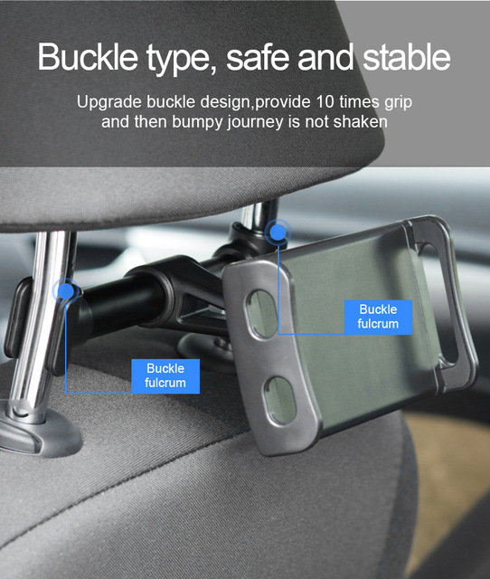 Car Back Seat Phone Holder 360 Degree Rotate Stand Auto Headrest Bracket Support For Tablet PC iPad Mini Pro Car Accessories