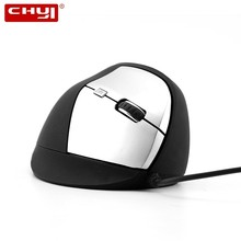 CHYI Vertical Ergonomic Computer Mouse Wired Gaming Mause 1600DPI Adjustable Usb Gamer Upright PC Game Mice For Laptop Desktop chyi wireless vertical mouse ergonomic 2 4ghz 1600dpi right hand mice with mouse pad kit usb 2 0 receiver for pc laptop desktop