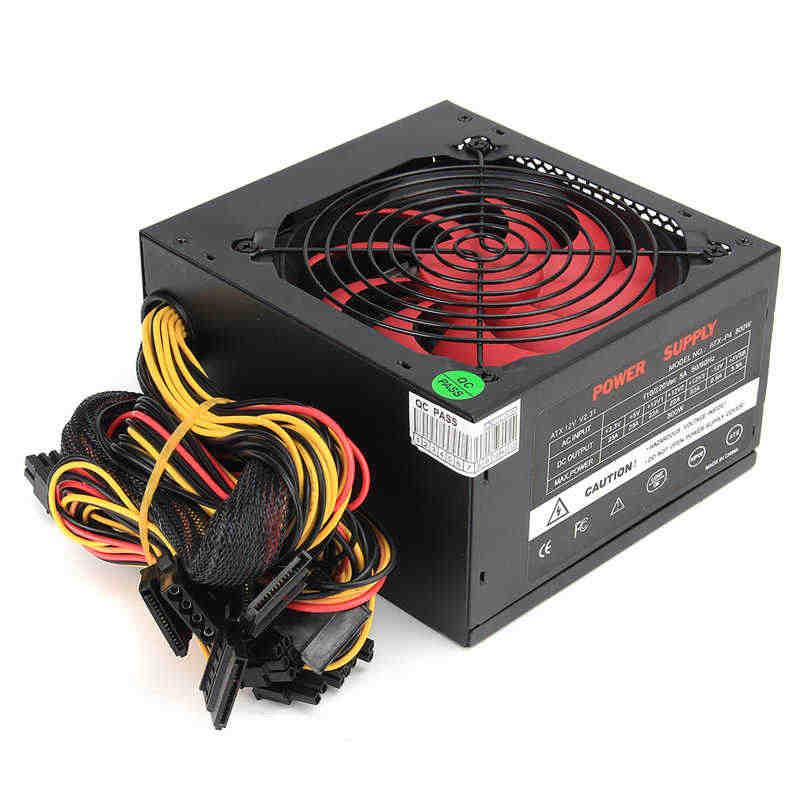 أسود 800 واط 800 واط امدادات الطاقة 120 مللي متر مروحة 24 دبوس PCI SATA ATX 12 فولت موليكس ربط وحدة إمداد الطاقة للكمبيوتر 80 + الذهب