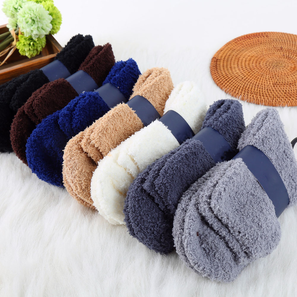 2019 Socks New Winter Mens Underwear Coral Velvet Thick Keep Warm Long Sock Soft Casual Vogue Beauty Winter Warm Socks Xmas