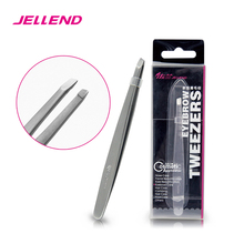 Jellend Professional Stainless Steel Eyebrow Tweezers Superior Thick Clip Eye Brow Hair Remover Beauty Tool Face Hair Tweezer