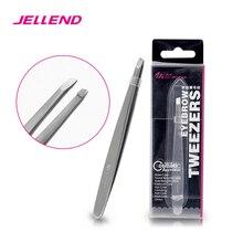 Jellend 전문 스테인레스 스틸 눈썹 족집게 우수한 두꺼운 클립 눈썹 헤어 리무버 미용 도구 얼굴 헤어 트위터