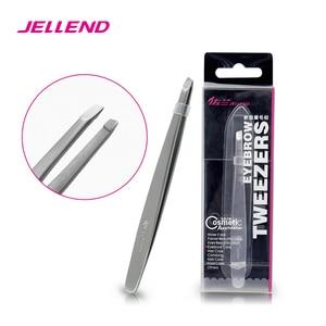 Image 1 - Jellend 전문 스테인레스 스틸 눈썹 족집게 우수한 두꺼운 클립 눈썹 헤어 리무버 미용 도구 얼굴 헤어 트위터