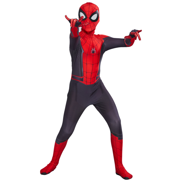 Spider Boy Far From Home Peter Parker Cosplay Costume for kids 1