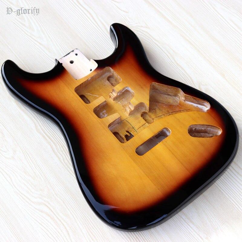 light green red sunburst Sunset ST guitar body  good qualitylight green red sunburst Sunset ST guitar body  good quality