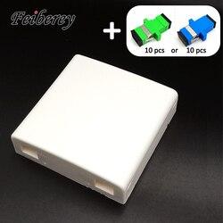 Adaptador SC FTTH Caixa de Terminais com 10 5 pcs 86-tipo de PVC Painel de Montagem Na Parede Da Caixa de Junção Terminal de Desktop caixa de Terminação de fibra Óptica