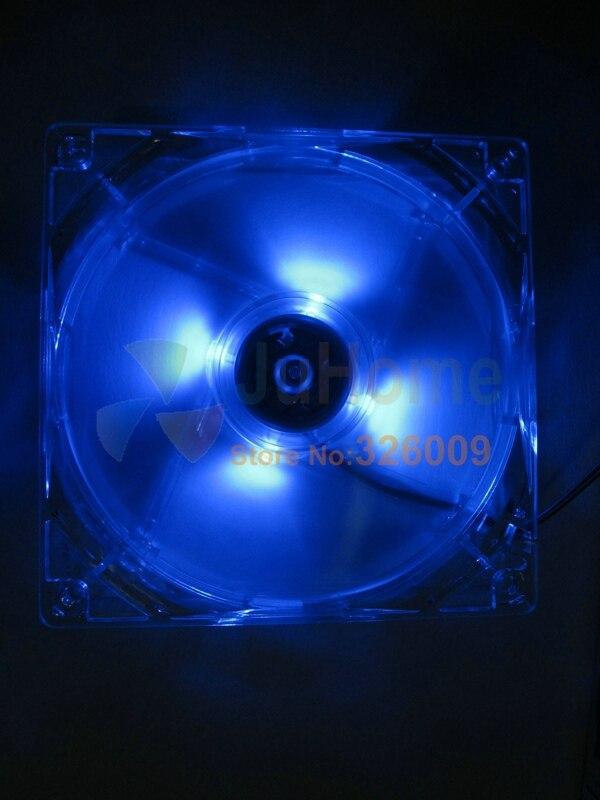 Arsylid de alta calidad 12 cm 120mm 8 cm 9 cm ventilador LED de color azul de luz LED ventilador de refrigeración para caja de la computadora