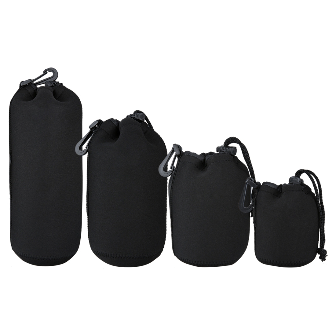 IG-4Pcs DSLR Camera Lens Pouch Bag Neoprene Soft Bag Waterproof Case S+M+L+XL Size image
