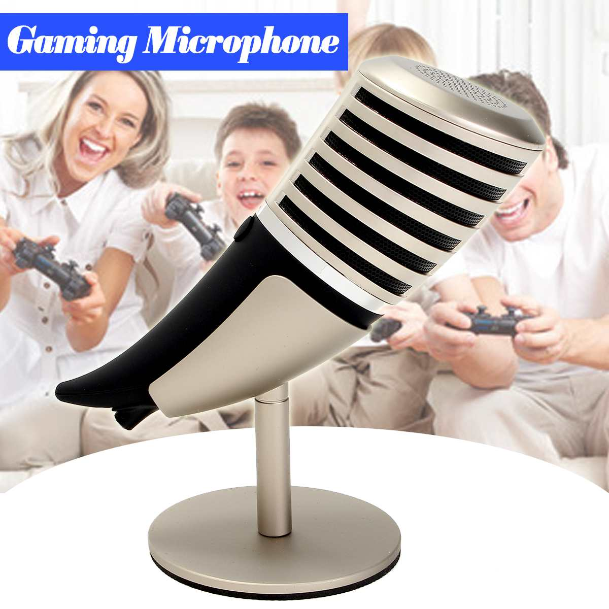 Pro Desktop Gaming Microphone Stand With Holder Portable Audio Video Microphones for Computer Laptop Mic