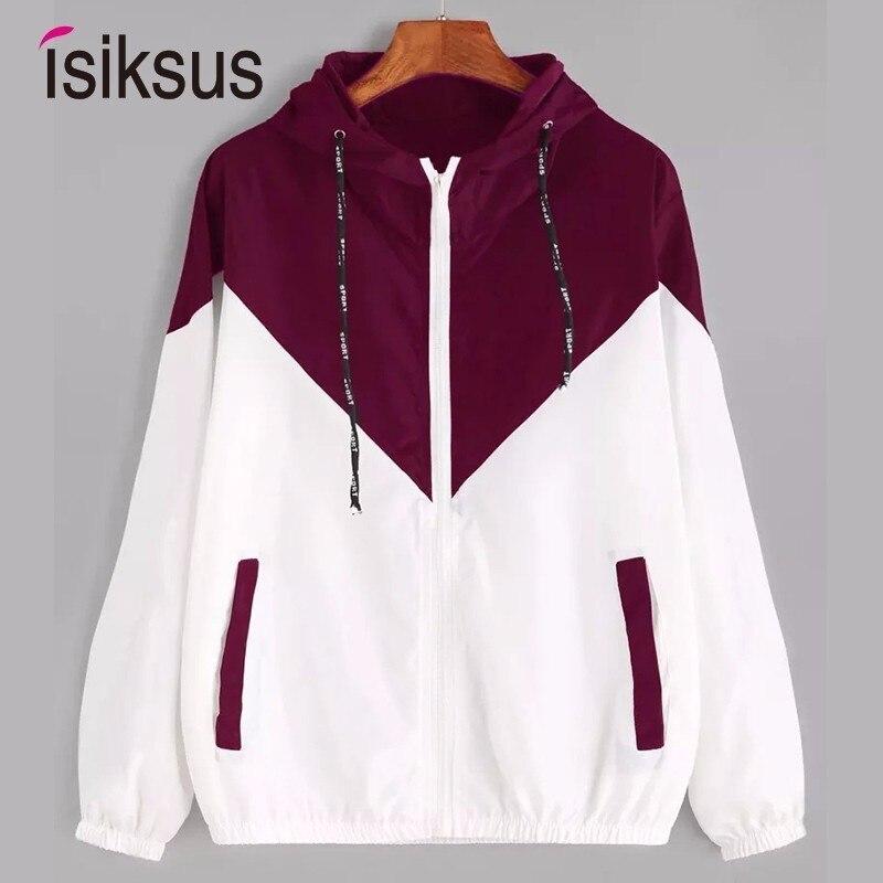 Isiksus Black Windbreak   Jacket   Women Long Sleeve Hooded Coats Spring Autumn Casual   Basic     Jackets   Plus Size 4xl for Women WJ017