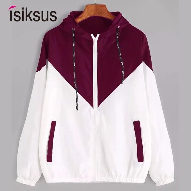 d204d83edf Isiksus Black Windbreak Jacket Women Long Sleeve Hooded Coats Spring Autumn  Casual Basic Jackets Plus Size