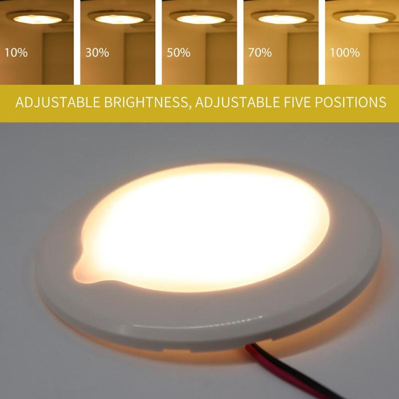 RV Camper Boat 12V Bright White 12 LED Dome Roof Ceiling Interior Light Lamp
