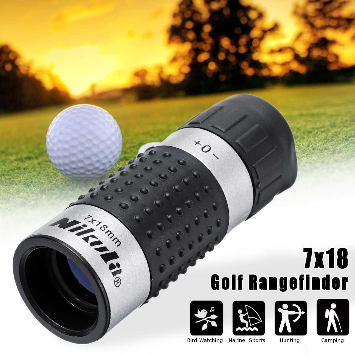 7x18  163m/1000m Golf Monocular Rangefinder Distance Meter Finder Binocular Pocket Scope Range Sightseeing Surveillance Races|Laser Rangefinders| |  - title=