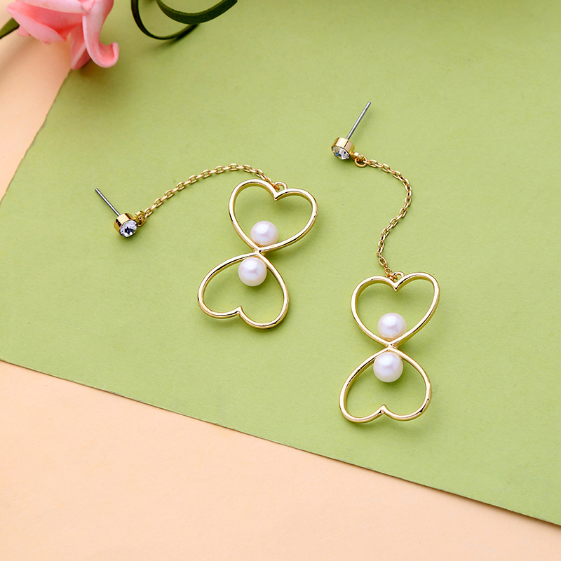 Earring Bijoux Earrings For Women Jewelry Brincos Girl Earing Oorbel Heart Simulated Pearl Cute Earings