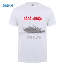 GILDAN Cheap Sale Cotton T Shirts For Boys Mens Papa Roach Band Last Resort Short Sleeves