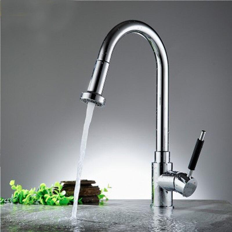 360 degrés pivotant tirer le bec de pulvérisation cuisine évier bassin chaud et froid mélangeur robinet pour les fournitures de cuisine