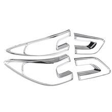 4 шт., Автомобильный задний светильник, накладка, рамка, АБС ХРОМ, украшение для Renault Kadjar,,,, хром, аксессуары для укладки