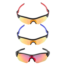 3 Lens Bicycle Bike Sports Sun Glasses Polarized Gafas Ciclismo Cycling Eyewear Goggles Sunglasses Riding Driving UV400 Glasses