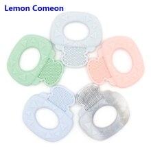 Lemon Comeon 1PC Silicone Baby Teether Cartoon Key Teething Ring Bracelet Bangle BPA Free Chew Charm Kid Gift