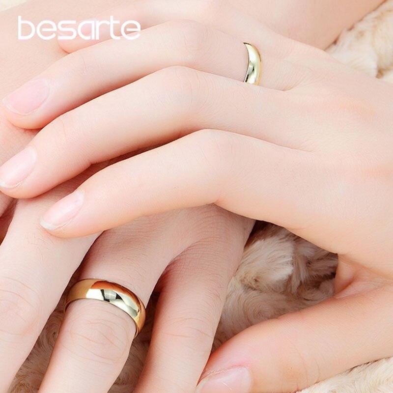 წყვილი ბეჭდების ოქროს ჩართულობის ბეჭედი ქალთა ალიანსი Casamento Alianca Bague Femme Homme Aneis Alien საქორწილო აქსესუარები