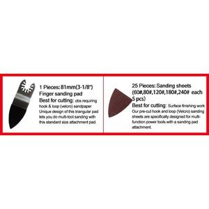 Image 2 - Discos de lijado para ratón, amoladora de papel de lija triangular, disco para lijadora de Palma, herramientas abrasivas para pulir 60/80/120/180/240, 25 uds.