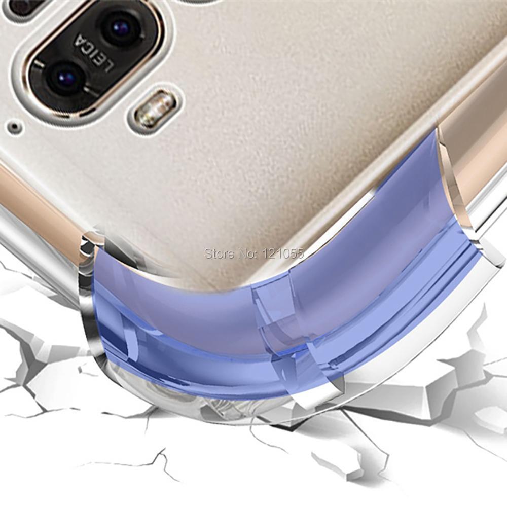 Siliconen Case Voor Huawei Mate 20 Pro P20 lite Nova 3 Honor 9 back cover TPU bumper Hoek Transparant Clear case bulk 100 stks/partij - 5