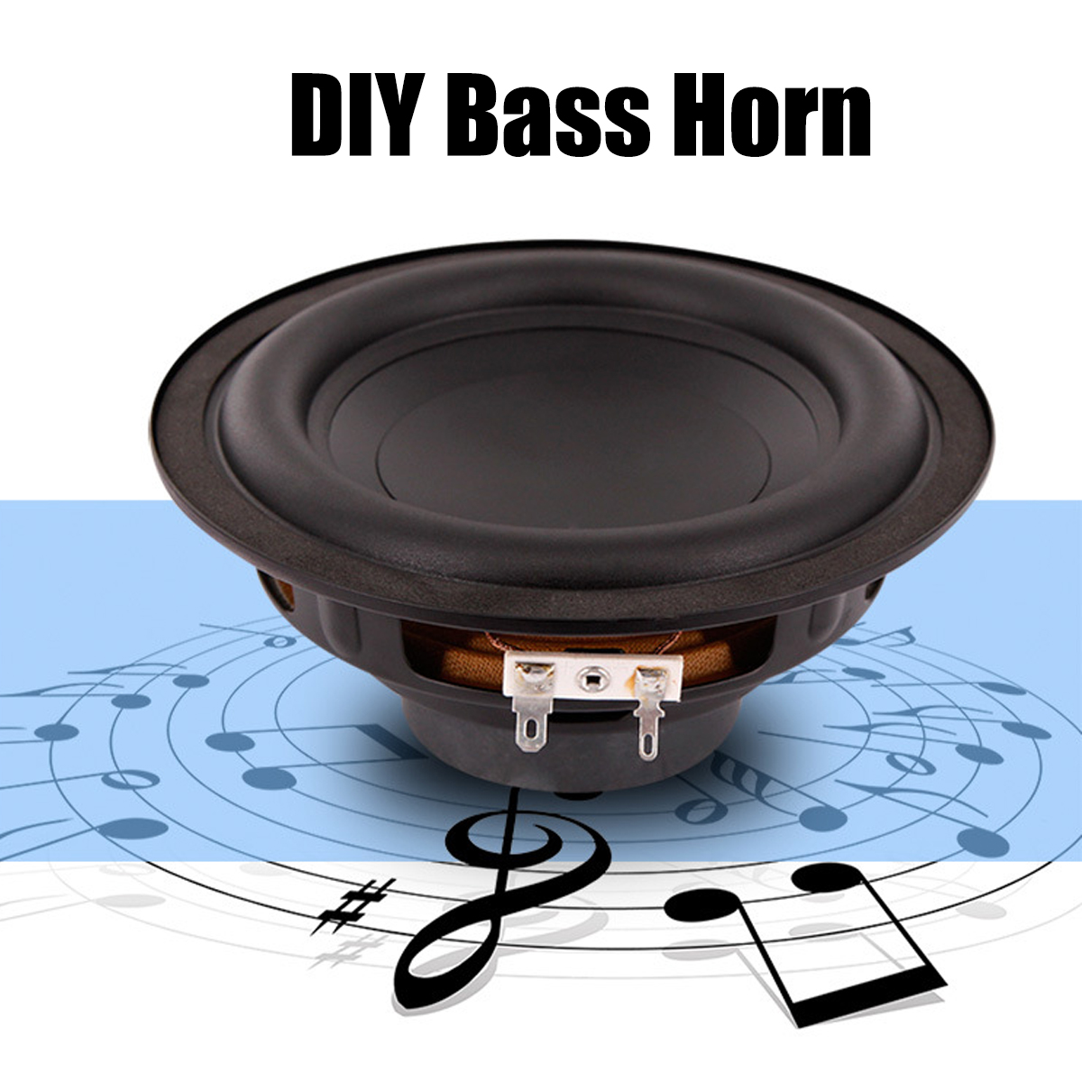 6 inch 50W DIY Bass Horn Speaker Accessories Sound Box ...