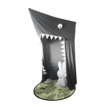 Funny Kid Bedding Mosquito Net Cartoon BIG SHARK Cotton Bed Canopy Hung Bed Canopy For Kids Bedroom Nursery