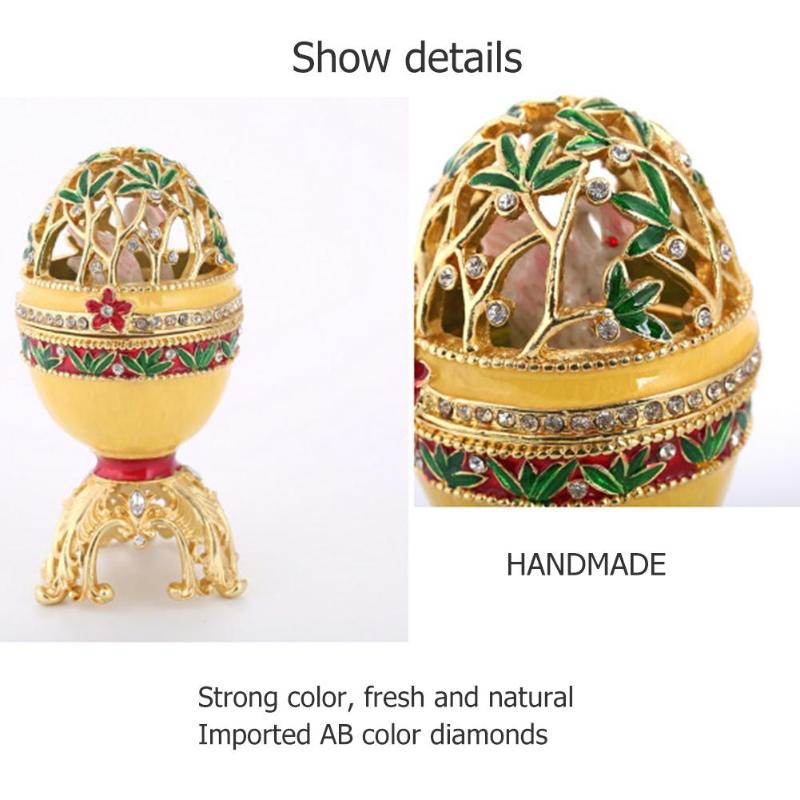 Beautiful colorful faberge egg trinket craft home decoration Top Quality