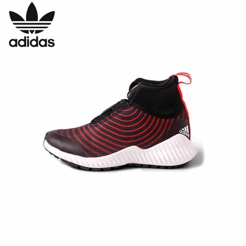 Adidas Boy Shoes 18 Autumn And Winter Fund Shoes High Help Elastic Children Sneakers # S81126