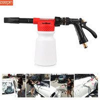 Car Wash Brush Portable High Pressure Foam Lance Brass Car Wash Gun Cleaning Sprayer