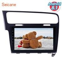 Seicane 10,1 Android 8,1 сенсорный экран Bluetooth 2 DIN Автомобильный Радио gps навигация для 2013 2014 2015 VW Golf 7 с wifi FM