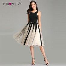 Платья для выпускного вечера, контрастные цвета, а-силуэт, без рукавов, v-образный вырез, тюль, элегантные, официальные, короткие, вечерние платья, Ever Pretty, Новинка Vestidos