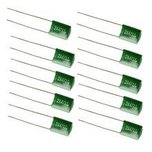 FSTE-10 Pieces 0.047/2A473J Capacitors Diy For Electric Guitars Bass Tone Caps Green