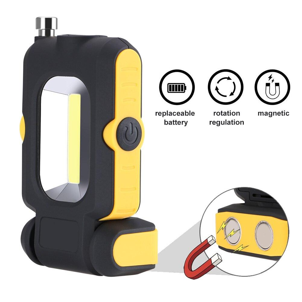 Sanyi 3 Modus COB Led-arbeitslicht Magnet Taschenlampe Inspektion Lampe Hand Taschenlampe Camping Zelt Laterne Mit Magnetische Teleskop Stange