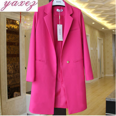 A Short And A Long Closed Chest For Women Suits Blazer Jacket Hoodie Ladies Plus Size Pockets Business Blaser Mujer 2019