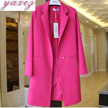 A Short And A Long Closed Chest For Women Suits Blazer Jacke