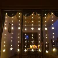Kaigelin Hot 2m 144 Leds LED romantic sequence light Fairy star window curtain wedding party 24v christmas fairy light EU Plug