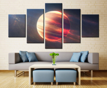 5 Pieces Outer Space Mars Planet Modern Home Wall Decor Painting Canvas Art HD Print Picture For