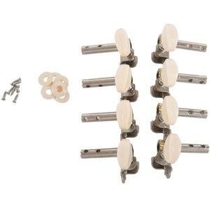 Машины тюнеры Колки для настройки ключа с белыми жемчужными ручками 4L + 4R для мандолина