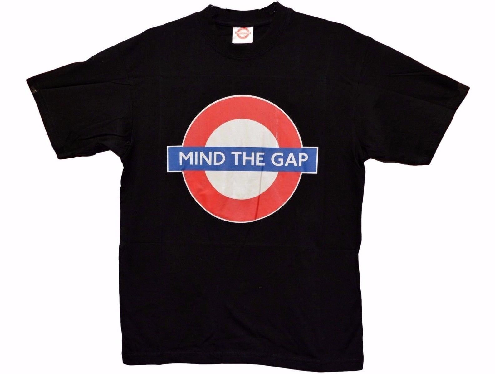 f35a79091b6d0e Aliexpress.com : Buy Shirt London Underground Mind The Gap Roundel Logo  Black T shirt Souvenir Gift from Reliable T-Shirts suppliers on Shop4565039  Store