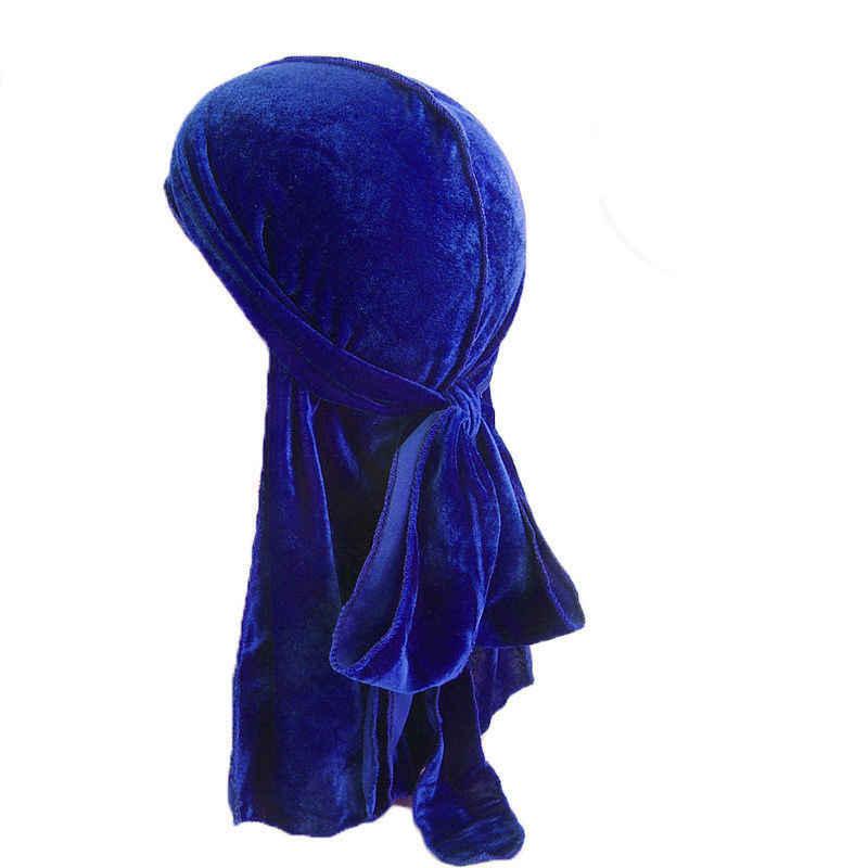 뜨거운 판매 unisex 남자 여자 벨벳 통기성 두건 모자 turban 두 durag 모자 미국