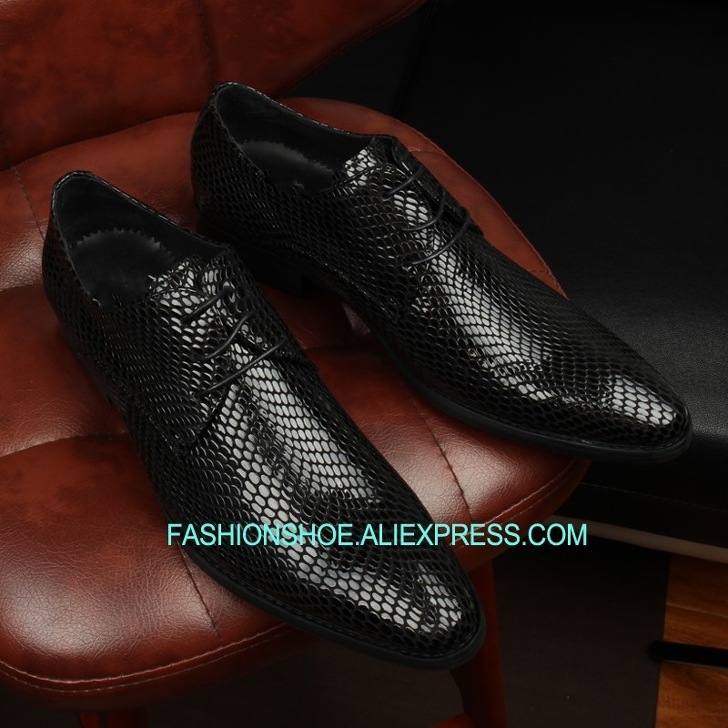 Shoes 2019 New Snake Skin Formal Business Shoes Hot Men Top Quality Wedding Bride Dress Shoes Hombre