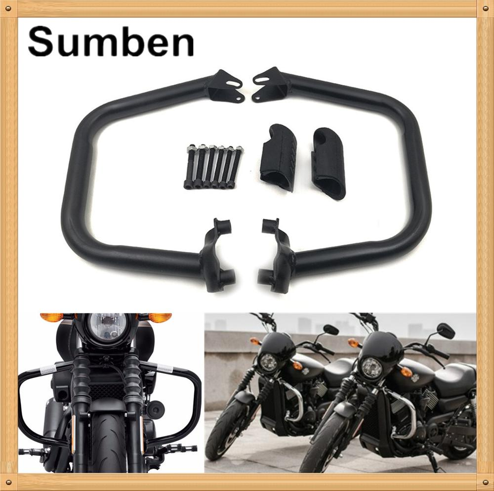 Careful For Harley Street 500 Xg500 Xg750 750 2015-2018 Engine Guards Highway Crash Bars Knee Leg Frame Protector With Rubber Cover Covers & Ornamental Mouldings