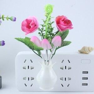 Image 4 - Veilleuse pour enfants, cuisine de chevet, contrôle lampe à Led champignon, tulipe, veilleuse, décoration de la maison