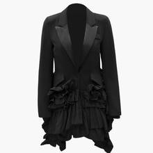 Muerte 2019 nueva moda sólido volantes Irregular Casual trajes casuales  asimetría de moda marea ropa de fiesta abrigo BF209 68d853465ae2